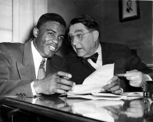 Jackie Robinson and Branch Rickey