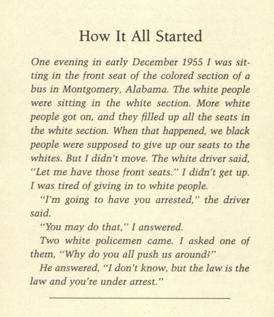 "intellectual dishonesty still beats learning grammar wayne k spear  rosa parks autobiography my story titled ""how it all started "" the unc student has slightly altered the original text and in so doing has introduced"