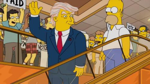 Trump on the escalator